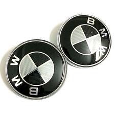 2PCS 82mm black white carbon fiber front/rear emblems for BMW e34 e36 e38 e46