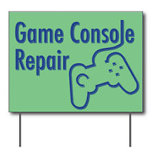 "Game Console Repair Curbside Sign, 24""w x 18""h, Full Color Double Sided"
