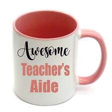 School Teacher's Aide Personalised Name Coffee Mug Christmas Thank you Present