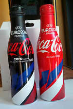 Set de 2 bouteilles coca cola EURO 2016 Drapeau