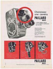 PUBLICITE ADVERTISING 104 1960 PAILLARD BOLEX choisissez une caméra