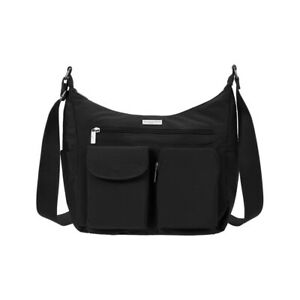 Baggallini Everyplace Bagg Crossbody Organizer Hobo Shoulder Purse Travel Black