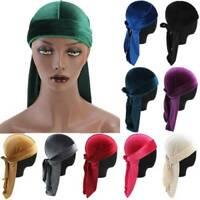 Men Women Velvet Durag Silky Hat Cap Premium-Designer-Doo Rag Wave Silk Headwear