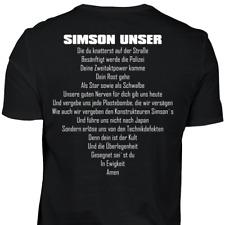 Simson Unser - T-Shirt Moped S50 S51 SR50 SR2 DUO Schwalbe Star Geschenk Lustig