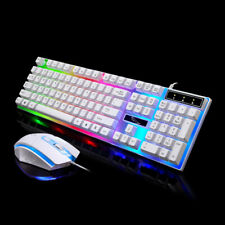 Gaming Keyboard And Mouse For Gamer One Laptop Pc Wired Ergonomic Usb Backlit Us