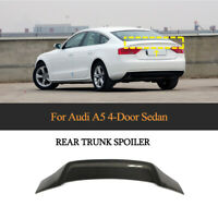 For AUDI A5 Hatchback 09-16 Carbon Fiber Rear Boot Trunk Boot Spoiler Wing Lip