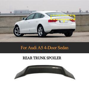 For AUDI A5 Hatchback 09-16 Carbon Fiber Rear Boot Trunk Boot Spoiler Wing Lip