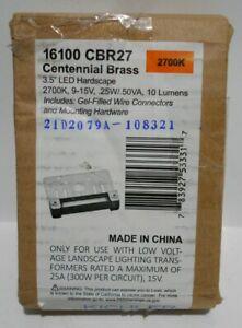 """Kichler 2700K, LED 3"""" Hardscape, Centennial Brass - 16100CBR27"""