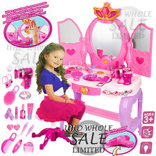 PRINCESS DRESSING GIRLS MIRROR MAKE UP KIDS ROLE PLAY GIFT CHILDREN TOY XMAS NEW