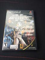 Star Wars: Battlefront II Sony PlayStation 2 PS2 Black Label Good Shape Cib SB1