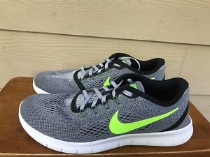 Nike Free RN 831508-003 Men's Athletic Running Shoes Grey Green Size 10