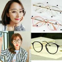 Flache klassische Nerd Brille Klarglas Hornbrille Punkte blau lila 614