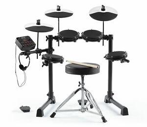 """Alesis Debut Kit E-Drum Set 4x 6"""" Mesh Head Drums 3x 10"""" Becken Bassdrum Zubehör"""