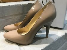 GIULIA MASSARI QUALITY WOMENS LADIES DESIGNER SHINY NUDE COURT HIGH HEEL SHOES 6