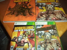 Borderlands 1 & 2 Xbox 360 Game w/ Bradygames & Limited Edition Strategy Guides!