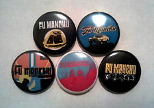 "5 x Fu Manchu 1"" Pin Button Badges ( stoner rock daredevil search of eatin dust)"