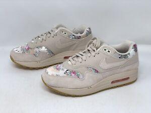 Nike Air Max 1 Floral Tan Sneakers, Size 8 BNIB AQ6378-001