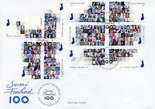 Finland 2017 FDC Face of Finland 100 Years 10v S/A Set Cover History Stamps