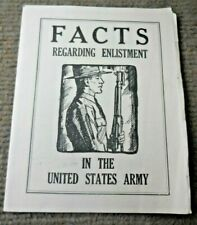 Vintage 1940 Ww Ii Enlistment In The United States Army Foldout Pamphlet