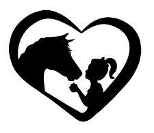 Love Pferd Aufkleber 11 x 9,5 cm Auto Sticker Reiter Anhänger Pferde Liebe Herz