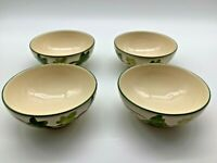 Franciscan green ivy cereal / soup bowls lot of 4 England
