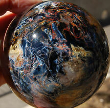 SPHEREFACTOR:       Stunning Large RED GOLD & BLUE PIETERSITE Sphere