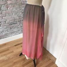 Giorgio Armani Women's Evening Skirt Ombre Pink Gray Iridescent Long 42