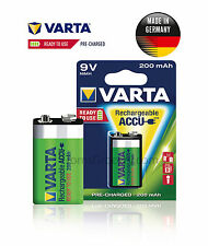 VARTA Accu Rechargeable 9V Block HR22 6F22 56722 German Battery 200 mAh