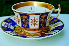 KPM handpainted  antique reticulated cup with saucer around 1840