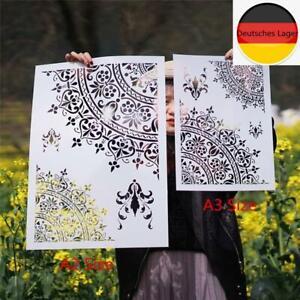 A3 A2 Größe DIY Craft Layering Mandala Schablonen für Wände Malen Scrapbookin