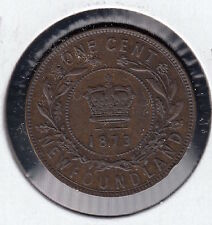 1873 Newfoundland Large One Cent Coin
