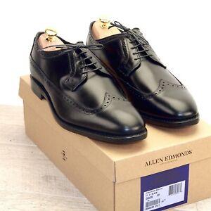 * NIB * $425 Allen Edmonds GREENE Street CALFSKIN * 11 D Black * new Trees Bags