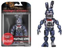 """New 2017 Five Nights At Freddy's NIGHTMARE BONNIE 5"""" Figure IN STOCK"""