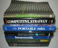 Lot 7 Business MBA Textbooks Strategy Operations Entrepreneurship Manufacturing