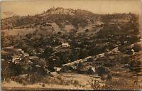 Vtg Postcard RPPC 1908 Mokelumne Hill California CA Birds Eye View