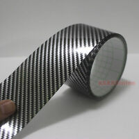 Self Adhesive Tape Vehicle 2D Glossy Black Carbon Fiber Vinyl Wrap Sticker VL