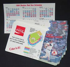 1986 Boston Red Sox Pocket Schedules (Lot of 50) Wade Boggs, Coca-Cola