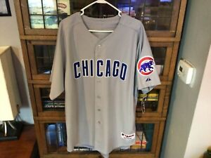 NWT Chicago Cubs SEWN MAJESTIC Authentic Gray Road Jersey SZ 52 (XL) - Cool