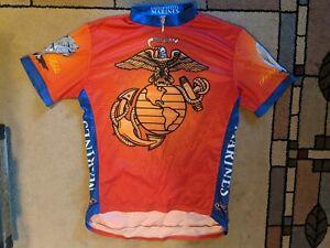 Primal Wear USA MARINES American Cycling Jersey bicycle bike shirt XXL 2XL EUC!