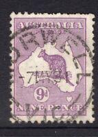 Australia Victoria MORWELL 1931 postmark on 9d Kangaroo (SMW)