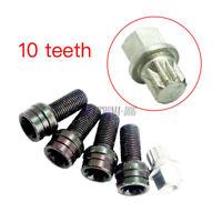 4+1 Set Wheel Bolt & Locking Lug Nut 10 tooth For VW Passat Audi Skoda Seat