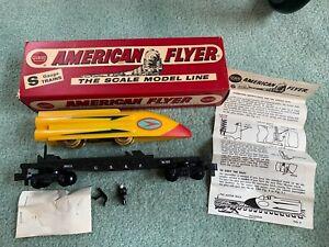 American Flyer #25515 USAF Rocket Sled flatcar LN in box SCARCE DARK yellow pike