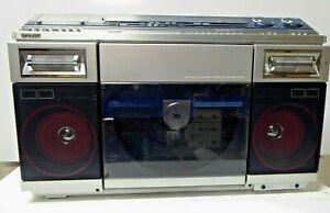 VINTAGE SHARP VZ-2000XA RECORD PLAYER CASSETTE TAPE RADIO STEREO BOOMBOX