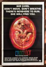 Prophecy 1979 Supernatural Horror Beast Cult Orig US 1 Sheet Unused Folded EX C8