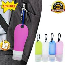 1/4pcs 60ml Travel Plastic Keychain Bottles Leakproof Empty Containers Flip Cap
