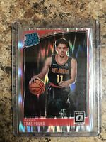 2018-19 PANINI DONRUSS OPTIC SHOCK PRIZM TRAE YOUNG RATED ROOKIE #198 RC HAWKS