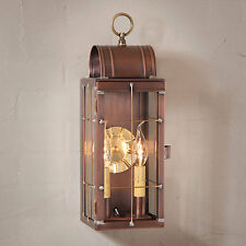 QUEEN Arch new Antiqued Copper outdoor wall sconce lantern light / nice