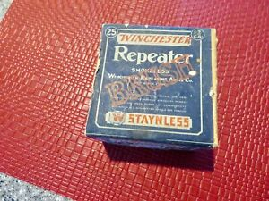 Vintage 2 Piece Winchester 12 Gauge Repeater Box