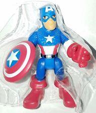 """PlaySkool Heroes CAPTAIN AMERICA 2.5"""" Figure Marvel Avengers Super Hero Squad"""