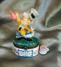 Midwest Phb (porcelain hinge box) Disney Mad Hatter #355619 Alice In Wonderland